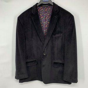 Chaps Velvet Velour Black Blazer Sport Coat Jacket